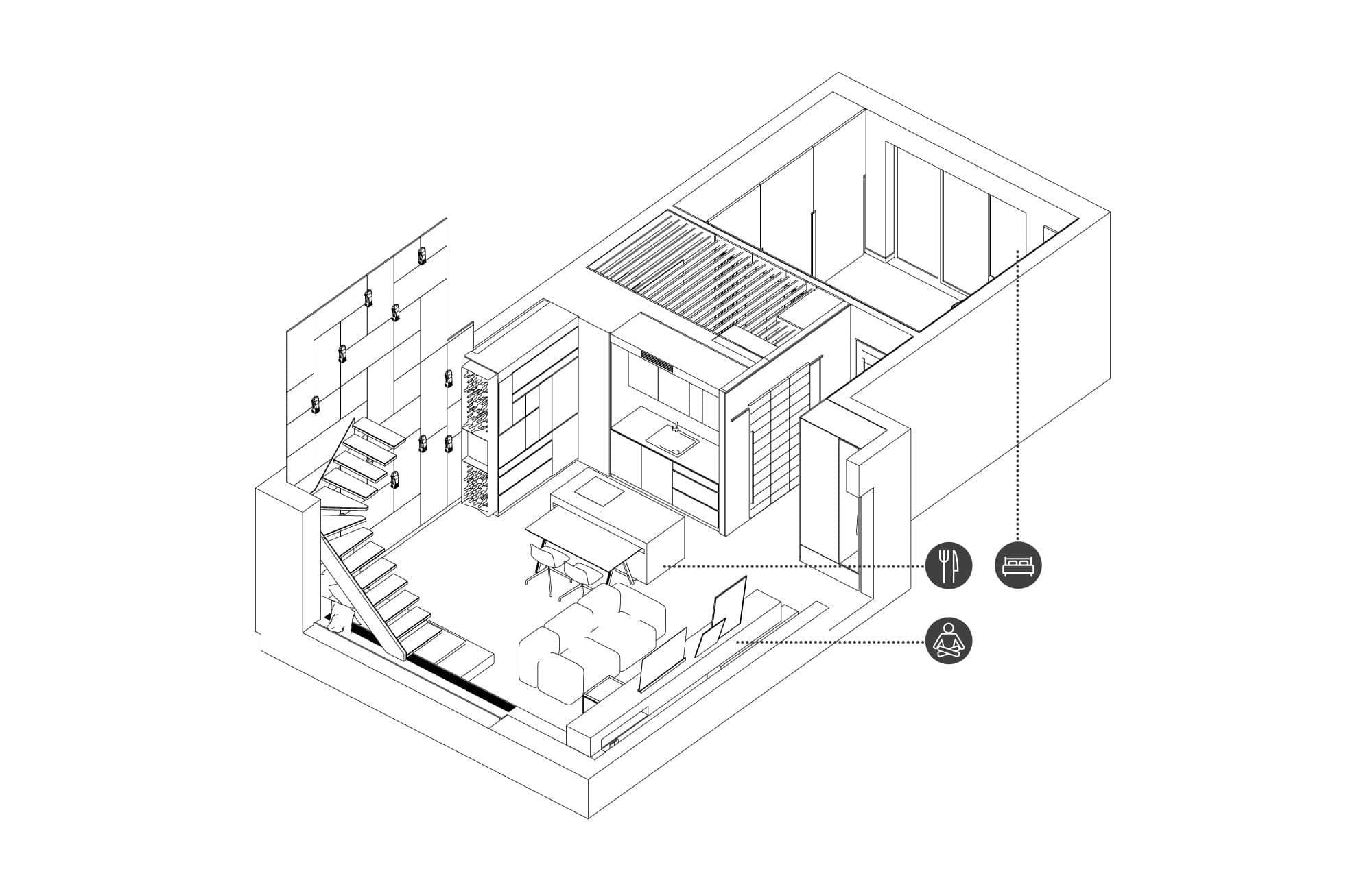 Mieszkanie naGrunwaldzie - widok naparter