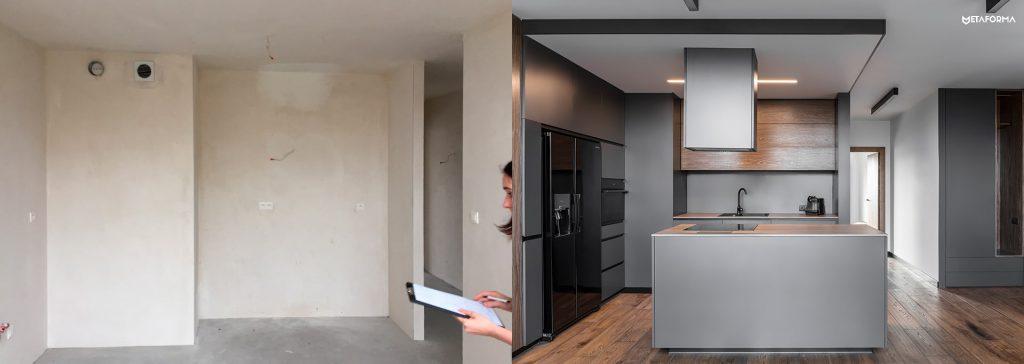Mieszkanie wPoznaniu torównież zmiany budowlane widoczne nazdjeciu