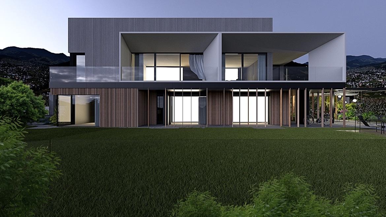 Elewacja budynku nowoczesnego poprzebudowie