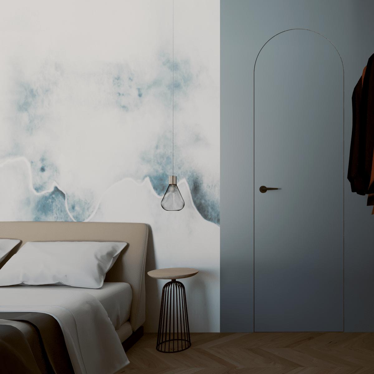 Widok nadrzwi sypialni; ZONA Architekt Poznań