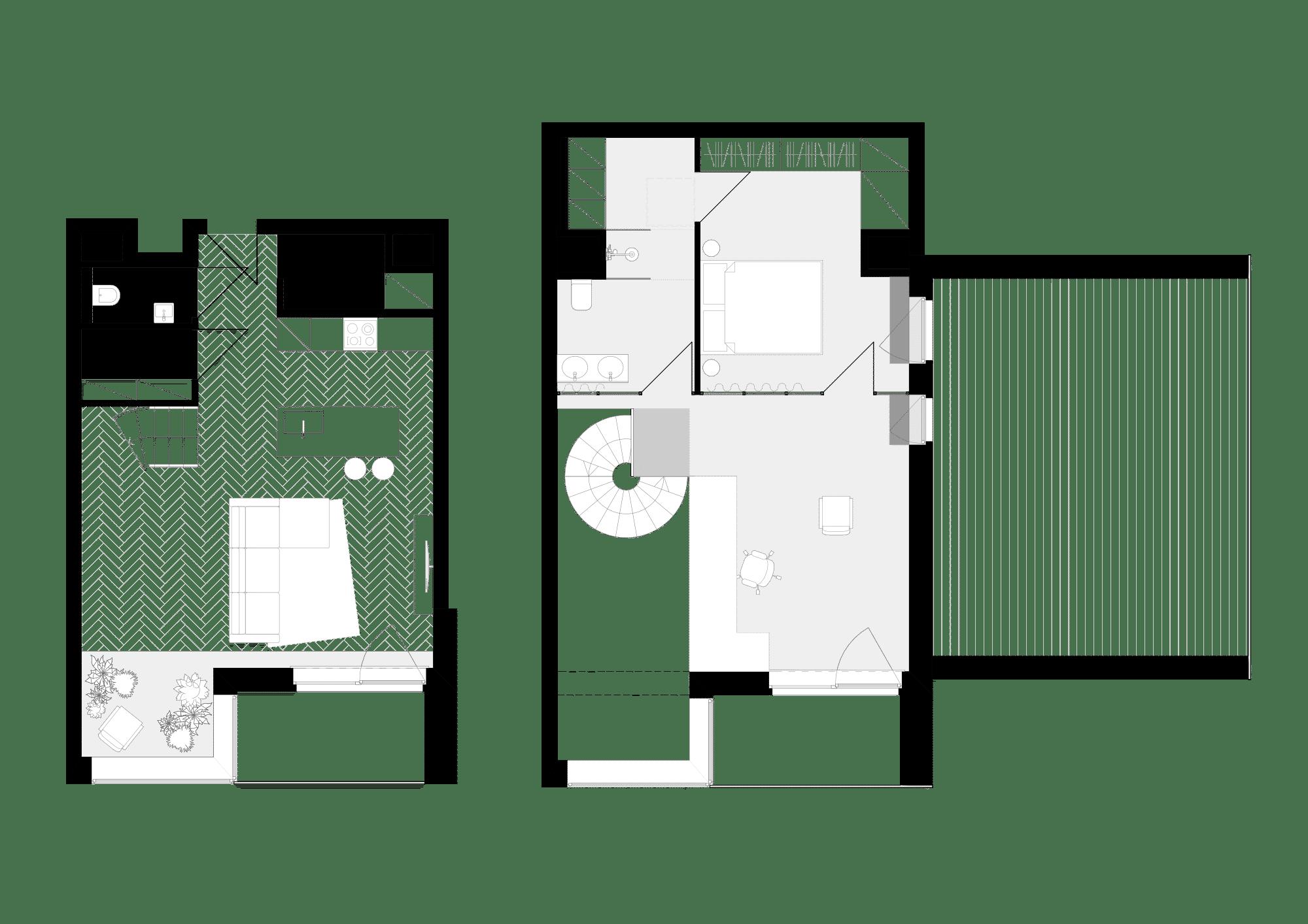 Rzut mieszkania zantresolą wPoznaniu
