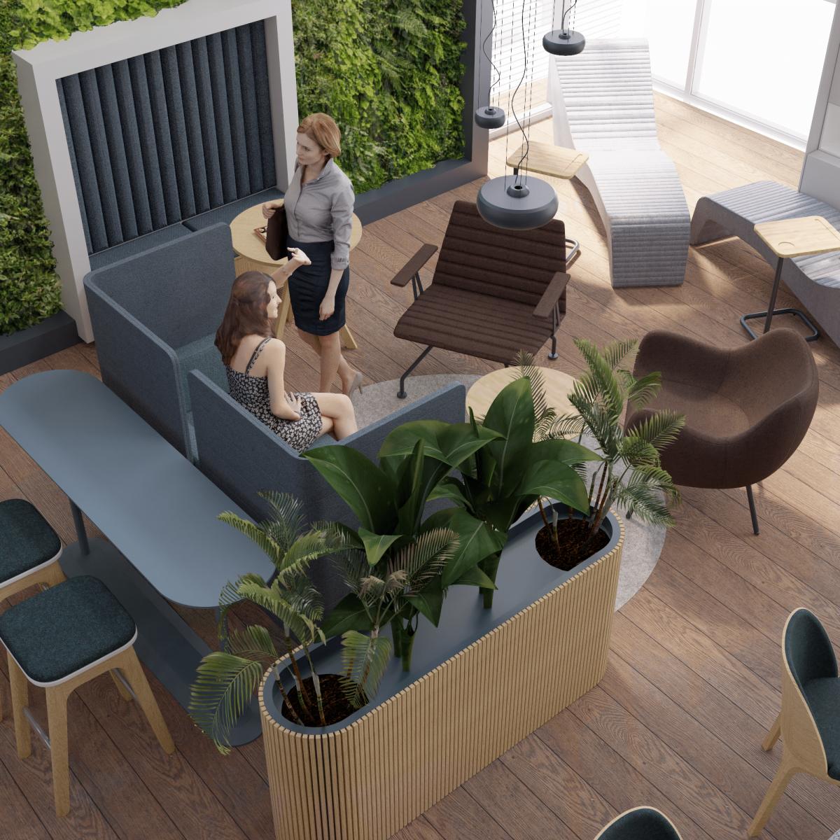 Wizualizacja projektu architektonicznego VIP room