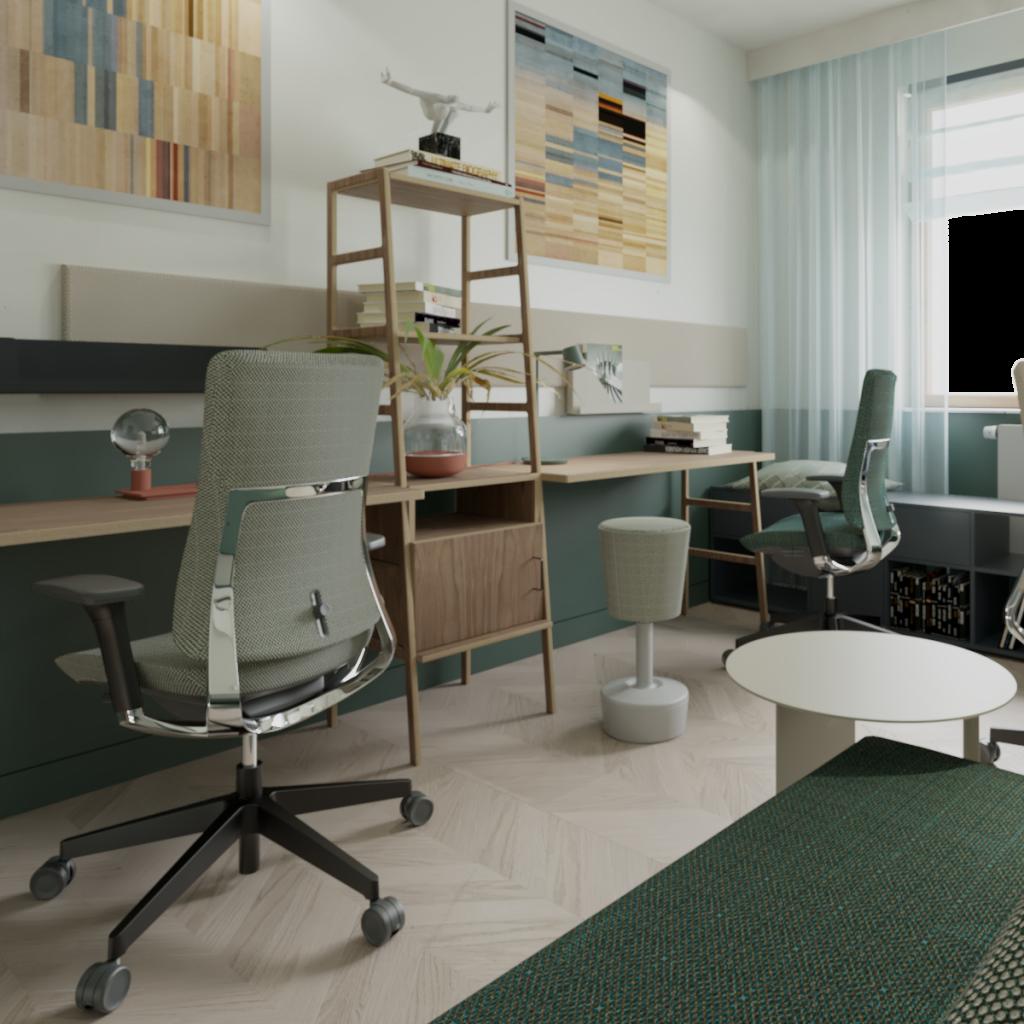 Projekt pomieszczenia pracy zdalnej wdomu jednorodzinnym