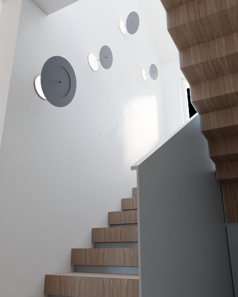 Detal schodów napiętro budynku