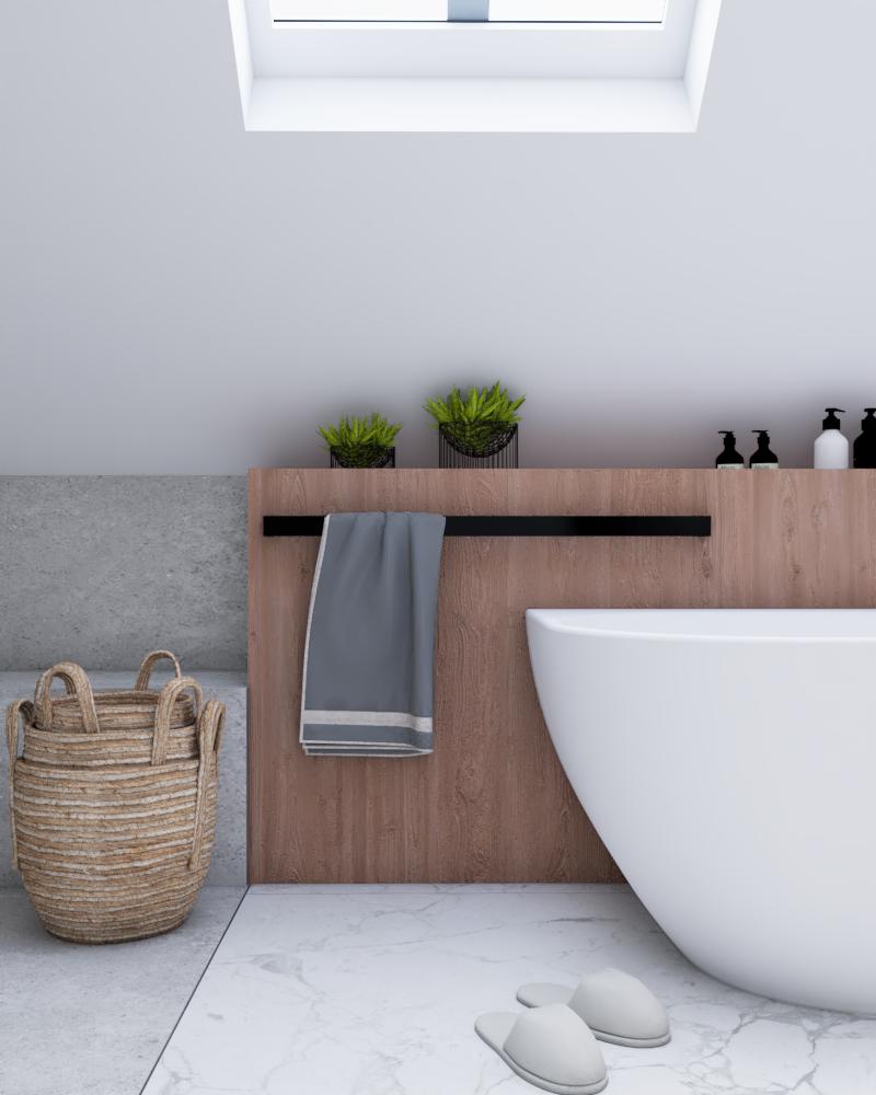 wnętrze łazienki zwanna wolnostojącą wdomu wSiedlcu ZONA Architekci