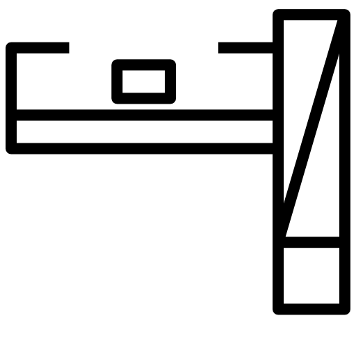 Zabudowa wukładzie litery L. Prostopadle poprawej stronie wysoka zabudowa zwbudowaną lodówką, piekarnikiem mikrofalą orazszafkami doprzechowywania. Obok zabudowa blatowa.