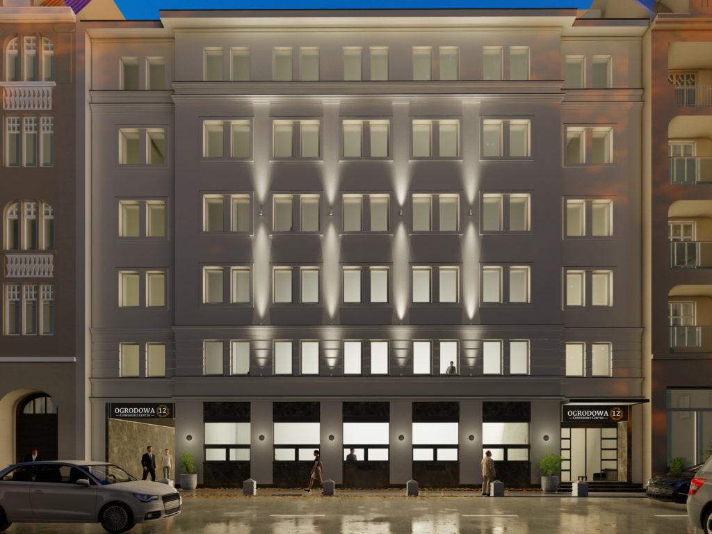 Fasada budynku centrum kongresowego konferencyjnego wPoznaniu