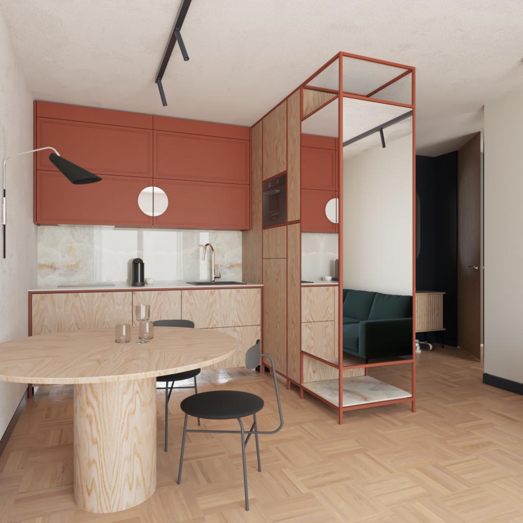 Szafki wiszące uchylne będą wygodne zmałch przestrzeniach zograniczonym miejscem pracy - nietrzeba się cofać podczas otwierania frontów szafki kuchennej